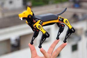 来看看这个手掌般大小的机器狗